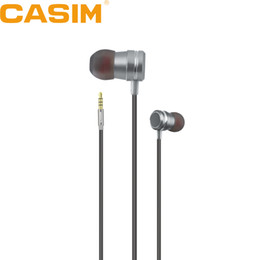 bass buds earphones UK - New CASIM 3.5mm earphone magnetic headphones Metal Super Bass Stereo ear buds headset With Mic For iPhone Samsung Sony Xiaomi MP3 MP4