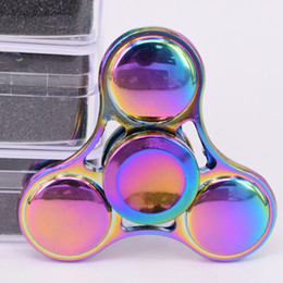 2017 Hot Rainbow Fidget Spinner Colorful EDC Gyro Toys Hand Spinner Fidget Zinc Alloy Fidget HandSpinner from fines spinner manufacturers