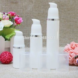 Select Plastic Canada - Silver Line Empty Plastic Airless Bottle With Transparent Cap Travel Portable Refillable Bottles 10pcs lot 15ml 30ml 50ml Select