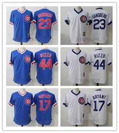 0666c7144 ... Gray 1990 Throwback Jersey Retro Men Chicago Cubs 23 Ryne Sandberg Jersey  17 Kris Bryant 44 Anthony Rizzo 100% ...