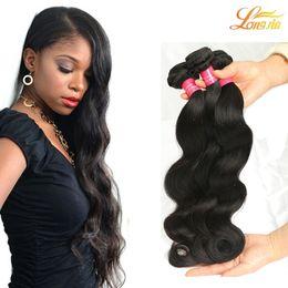 cheap virgin hair bundles 2019 - Wholesale 8A Brazilian Human Hair Weave 4Bundles Body Wave Double Weft Brazilian Virgin Hair Bundles Free Shipping High