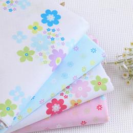 Korean Baby Flowers Canada - Cotton Flower Pre Cut DIY Handmade Decor Charm Cloth Squares Quilt Household Sewing Fabrics Textiles no1
