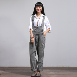 2eee47ae2e82 Elegant Jumpsuit Long Large Size Casual Rompers for Women Girls Denim  Overalls Pants 2017 Korean Style Loose Suspenders Women s Jeans Winter