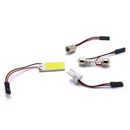 Большой Промотирование T10 24 SMD COB Светодиодная панель c5w Белый Автомобиль Автомобильная Внутренняя Карта Чтения Лампа Лампа Свет Купол Festoon BA9S 3 Адаптер 12V