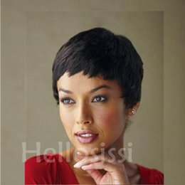 Straight half wig priceS online shopping - Half Price Lace cut Short bob human hair wigs with bangs inch Brazilian full lace wigs for black women