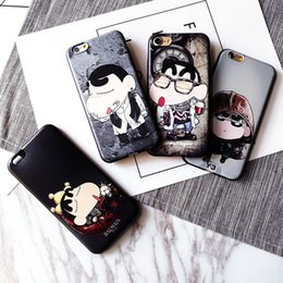 Black crayons online shopping - For Iphone S Phone Shell Cartoon Crayon Shinchan Relief Soft Shell Black Frosted Phone Case With Lanyard Hole For Iphone Plus