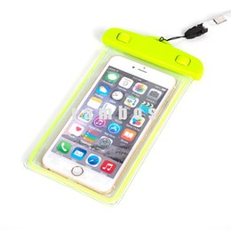 underwater case for iphone UK - PVC Waterproof Cell Phone Bag Case Underwater Clear Transparent Smartphone Dry Pouch Cover for Iphone 6s