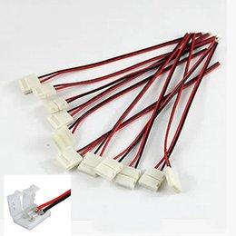 Conector 8mm 10mm 2pin para 3528 5050 5630 LED de una sola tira LED Conector de placa PCB de alambre