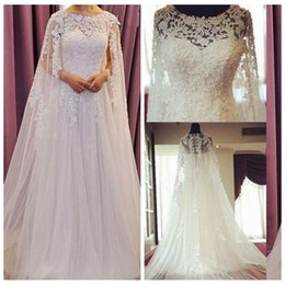 2017 Bohemian Lace A Line Wedding Dresses Scoop With Wrap Shawl Beach Bridal Dress Garden Gowns