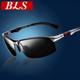 bc03ea81f485 Wholesale- Matrix Sunglasses Aluminum Magnesium Polarized sport men driving  mirror Male Eyewear Anti UV400 fishing polaroid sunglasses