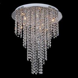 New Arrival Modern Crystal Chandelier Light Contemporary Ceiling Lamps 8 G4 Bulb Included Living Room Lighting 110V 240V