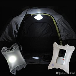 garden bags 2019 - new Solar Air Lamp Solar inflate lamp LED solar bag camping lamp LED Cushion outdoor safty garden path party wedding Hol