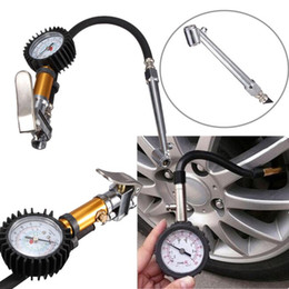 Car Tire Repair Canada - New high quality Auto Car Truck Motorcycle Pistol Flexible Hose 220 PSI Tire Pressure Gauge Air Inflator Gun