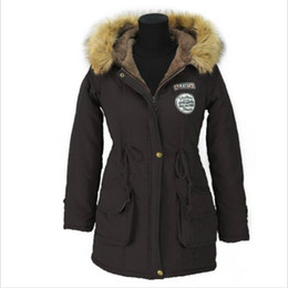 Survêtement Manteau Manteau Parka Pas Cher-Veste d'hiver d'épaississement Parkas Femmes Manteaux Vêtements d'extérieur Plus Size Casual Long Down Coton Wadded Lady Fashion Warm