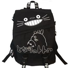 44958482ef96 Wholesale- Anime My Neighbor TOTORO Cartoon Backpack Canvas Shoulders School  Bag Children Schoolbags Men Women Bookbag Printing Backpack