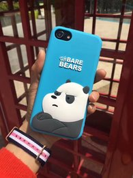 $enCountryForm.capitalKeyWord Australia - For iPhone 7 case 3D cute cartoon Bear and Panda ultra thin Soft silicone Phone Case back protective Cover shell For iPhone 6S 7 Plus 5S