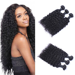 Discount chinese curly hair - Unprocessed Brazilian Human Remy Virgin Hair Jerry Curly Hair Weaves Hair Extensions Natural Color 100g bundle Double We