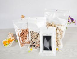 Оптовая продажа-ясно+белый пластиковый молния Розничный пакет сумка для данных кабель автомобиль зарядное устройство сотовый телефон аксессуары упаковка мешок