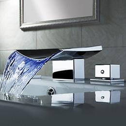 Großhandel - Superfauket Badezimmer Wasserhahn Wasserfall, LED Wasserfall Wasserhahn, Waschbecken Wasserhahn Wasserfall, Wasserhahn LED Temperaturgesteuert im Angebot