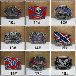 novelty rebel flags 2019 - New Fashion belts Confederate Southern South Rebel Flags Civil Flag Belt Buckles Civil War Flag Belt Buckles Dixie Flag