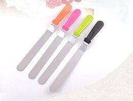 Flat spatula online shopping - Hot Sale Cake Cream Icing Spatula Butter Smoother Blade Angled Flat Scraper Smoothing Tool High Quality