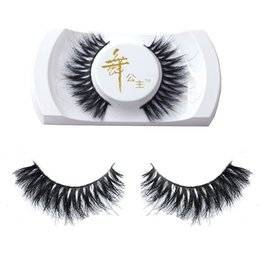 China Wholesale- 1Pair Handmade Real Horse Hair Natural Long Cross False Eyelashes Fake Eye Lashes Makeup Tools for Women Lady Girls supplier women eyelashes suppliers