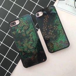 Iphone Cases Liquid NZ - Cover For iPhone 7 8 Plus Glitter Quicksand Tetris Bag For iPhone 6S 6 Plus Phone Case Dynamic Liquid Coque 6 7 Plus