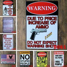 Bar Paintings Australia - 20*30cm Tin Sign Board Gun Metal Painting Humour Retro Poster Use to Party Bar Ktv House