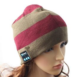 Fallen Hats Australia - wireless bluetooth headphone beanie knitted hat handsfree headset with mic speaker for smart phones wireless earphone caps for fall winter