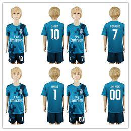 9a9d18aa0 ... 1718 Spain Real Madrid Football Club childrens football jerseys RAUL  and I CASILLAS blue