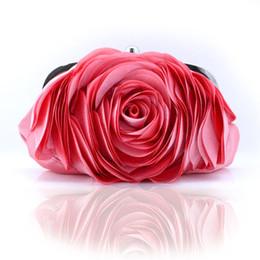 $enCountryForm.capitalKeyWord Canada - Wholesale-Fashion Vintage Ladies Floral Evening Bag Woman Rose Flower Chain Hand Bag Wedding Party Clutch Dinner Small Purse bolso XA140H