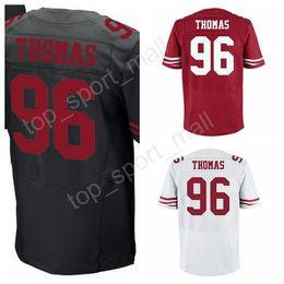 aa99e20482a 2017 Draft Pick Men 96 Solomon Thomas Jersey Red Black White Color Solomon .