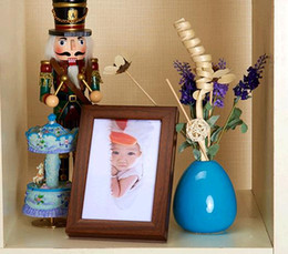 cheap box frames Canada - Hot Selling Wholesale Cheap Imitation wood frame hang a wall to 7 inch creative frame table id box wholesale