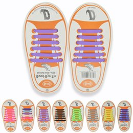 Choose running shoes online shopping - 12pcs set Children No Tie Rubber Elastic Shoelace colors choose free Kids Sneaker Shoe Laces Running Athletic Shoelaces