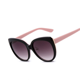 Wholesale-Oversized frame cat eye Sunglasses women brand designer UV  Protection Coating Sunglasses Pink mirrored Oculos De Sol Faminino 31a87afd59