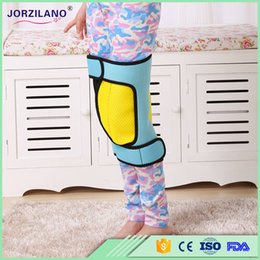Barato Belas Pernas Pernas-Crianças Double-Side OX Legs Orthotic Corrector Tape Posture Suporte Brace Bowleg Straightening Correction Beautiful Band Kids 1PCS