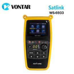 Опт [Подлинная] Satlink WS6933 DVB-S2 FTA CKU группа цифровой спутниковый Искатель метр с 2.1-дюймовый ЖК-дисплей