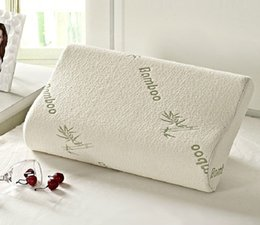 $enCountryForm.capitalKeyWord Australia - Wholesale- High Quality Bamboo Fiber Pillow Slow Rebound Memory Foam Pillow Health Care Memory Foam Pillow Massager Travesseiro Almohada