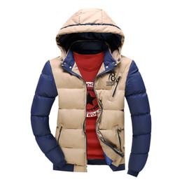 $enCountryForm.capitalKeyWord NZ - Wholesale- 2016 New Men Jacket Unique Design Windbreak Autumn Winter Worm Mens Jackets And Coats Khaki Patchwork Casual Male Brand Clothing