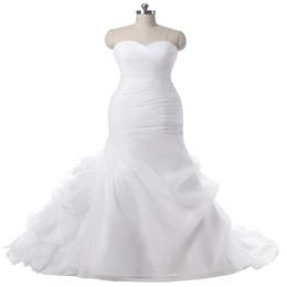 $enCountryForm.capitalKeyWord UK - High Quality New Fashion Orangza Mermaid White and Ivory Wedding Dresses Off The Shoulder Bridal Gown Custom Size