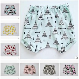 Bébé Imprimé Animal Bébé Pas Cher-Baby Shorts 2017 Summer Boys and Girls Lemon Fox Fruit Shorts imprimés pour animaux Ins Vêtements Pantalons en coton Garçons Vêtements pour filles Vêtements de boutique