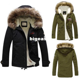 $enCountryForm.capitalKeyWord Canada - Wholesale- 2016 Mens Warm Fur Collar Hooded Down Jacket Winter Thick Duck Down Coat Outwear Free Shipping