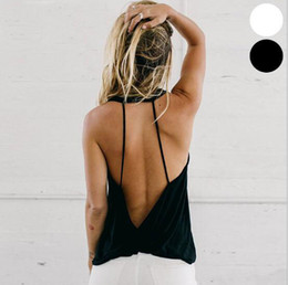 $enCountryForm.capitalKeyWord Canada - Hot Selling Loose Solid Women Backless Yoga T Shirts Fashion Girls Quick Dry Tank Tops Casual Sports Outdoor Running Active Wear
