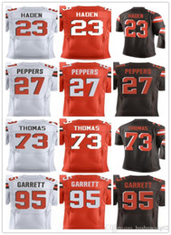... Womens Nike Cleveland Browns 73 Joe Thomas Elite Brown Team Color NFL  Jersey Mens 73 Joe Thomas 95 Myles Garrett 23 Joe Haden 27 Jabrill Peppers  Home ... 6f950b203