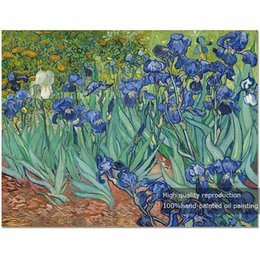 Van Gogh Paints Canada - Irises Flowers,Pure Hand Painted Modern Wall Decor Vincent Van Gogh Abstract Art Oil Painting On High Quality Canvas.Multi sizes VG002