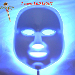 Derma light online shopping - 7 Colors Photon Pdt Led Facial Mask Blue Green Red Light Therapy Beauty Device For For Skin Rejuvenation Wrinkle Removal Derma Roller
