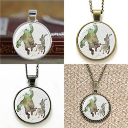 Donkey penDant online shopping - 10pcs Shrek and Donkey Shrek Art Glass Photo Necklace keyring bookmark cufflink earring bracelet