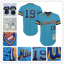 15056a50 ... Robin Yount Jersey Flexbase Retro Stitched Milwaukee Brewers Throwback  Jerseys White Blue Cream robin yount jerseys ...