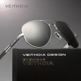 China VEITHDIA Aluminum Magnesium Men's Sunglasses Polarized Sun Glasses Male Classic Eyewears Accessories Men Oculos de grau 6695 supplier veithdia sunglasses polarized suppliers