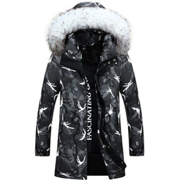 Barato Camisola Parka Mens-Hot Sale 2016 New Arrival Camouflage Down Jackets Moda Homens Camo Sports Neve Inverno Homen Casacos Hood Parkas Warmer Outerwear N024